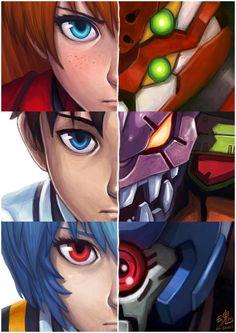 Neon Genesis Evangelion - Artista: Ry-Spirit.deviantart.com