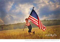 Patriotic Photography Inspiration - Portrait by Simple Gifts Photography via iHeartFaces.com