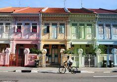 Late Shophouse Style houses on Koon Seng Road