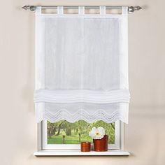 Home Fashion 79252-801 - Estor (batista, 140x140 cm), color blanco