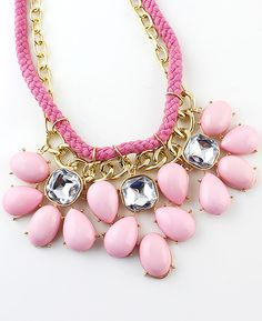 Shop Pink Drop Gemstone Chain Necklace online. Sheinside offers Pink Drop Gemstone Chain Necklace & more to fit your fashionable needs.