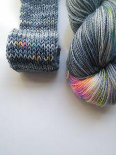 Hand dyed sock yarn Heterochromia 4ply finger weight superwash