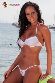 Bahamas String White Lycra. L'un des nombreux #maillotdebain et #bikini #string proposés par my-sexy-bikini.com