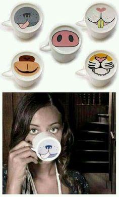 Coffee MUGS also double up as animal masks. More Coffee MUGS also double up as animal masks. More Coffee MUGS also double up as animal mask Sharpie Crafts, Sharpie Art, Sharpies, Sharpie Mug Designs, Diy Mug Designs, Diy Becher, Porcelain Pens, Fine Porcelain, Pottery Painting Designs