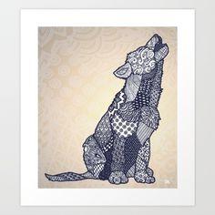 Zentangle Wolf Cub (Update)