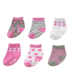 Look what I found on #zulily! Pink Polka Dot Socks Set by giggle #zulilyfinds