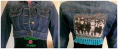 Upcycled Crop Denim Jacket The Road Goes On by WildflowerErin, $45.00