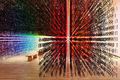 Emmanuelle Moureaux's rainbow installation changes colour over time