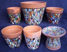 Mosaic Pots & Bird Bath | Ansley Bleu | Flickr