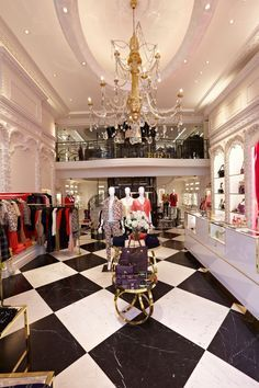 Juicy Couture flagship store London. Chandelier