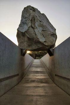 1. LANDMARKS. Michael Heizer 'Levitated Mass' www.hagergroup.com