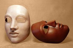 Neutral Theatre Mask by Piratemask on Etsy, $72.00