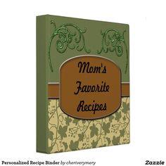 Personalized Recipe Binder