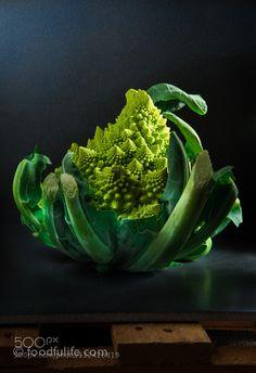 Pic: Romanesco cauliflower on dark background