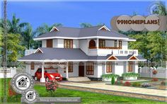Dream Home Plans Kerala Double Storey Display Homes Collections House Balcony Design, 2 Storey House Design, Kerala House Design, House Front Design, Small House Design, Beautiful House Plans, Dream House Plans, House Floor Plans, Simple Bungalow House Designs