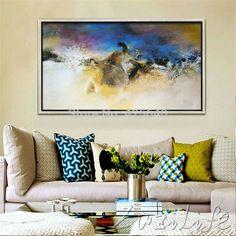 comprar lona pintados a mano pinturas al leo abstracta moderna grande barato