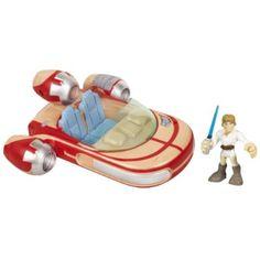 Amazon.com: Star Wars Jedi Force Playskool Heroes Landspeeder with Luke Skywalker Set: Toys & Games