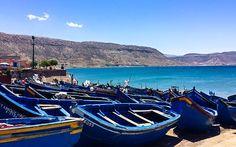 Kleiner #Hafen mit #Booten in #Marokko © Katharina Suchodolska