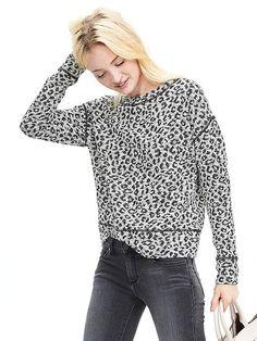 Animal Print Sweatshirt Product Image