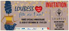 RDV jeudi 7/12 de 17h à 22h pour souffler la première bougie de Loubess. Animations, dégustations, suprises... the place to be!!!