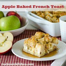 Apple Baked French Toast Recipe-I used Udi's Gluten Free bread