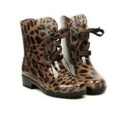 Cheetah Print Rainboots