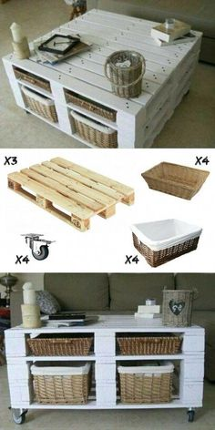 Table Basse Palette DIY & Pas Chère Want a coffee table in pallet? Here is an idea to make yourself … Table Palette, Palette Furniture, Palette Diy, Diy Pallet Furniture, Diy Pallet Projects, Home Furniture, Pallet Ideas, Furniture Ideas, Business Furniture
