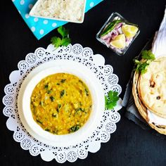 This is a great way to get your greens and protein. It is an easy, healthy and flavorful dal made with spinach and moong dal.