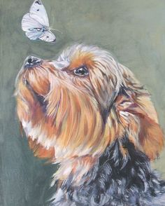 Yorkshire Terrier yorkie art print CANVAS print of by TheDogLover, $19.99
