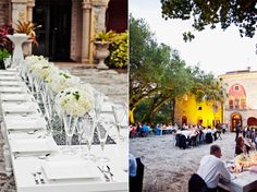 Looks like a destination wedding in Italy, but it's here in Miami at Deering Estate. Who knew? Shot by Marlon Richardson.