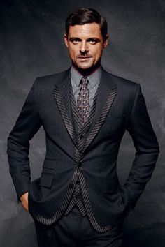 mens 3 piece Pinstripe suits 2014 - Google Search