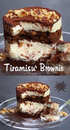 Mini Desserts, Frozen Desserts, Chocolate Desserts, Just Desserts, Delicious Desserts, Tiramisu Brownies, Tiramisu Recipe, Pie Dessert, Dessert Recipes