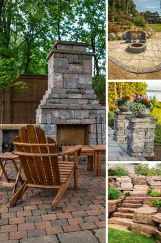Building an outdoor living space can be intimidating. Check out this gallery of hardscape features to inspire your future backyard oasis. Backyard Patio Designs, Yard Design, Backyard Projects, Backyard Landscaping, Oasis Backyard, Tile Design, Rooftop Garden, Outdoor Retreat, Outdoor Fire