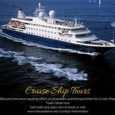 Blessed limo have exciting offers on limo rides and transportation for Crusie Ship Tours, book now Call (206) 579-5911 now or visit www.blessedlimo.net.