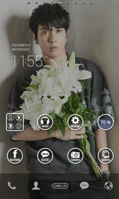 CNBLUE home screen by dodol launcher.