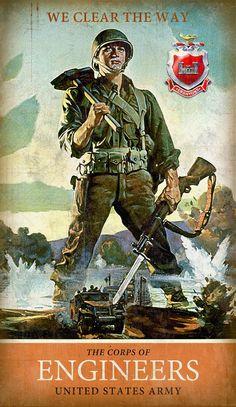 Army Combat Engineer Metal Sign