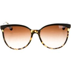 Pre-owned Oliver Peoples Tortoiseshell Oversize Sunglasses ($75) ❤ liked on Polyvore featuring accessories, eyewear, sunglasses, brown, oversized sunglasses, brown oversized sunglasses, gradient lens sunglasses, brown tortoise shell glasses and tortoise glasses
