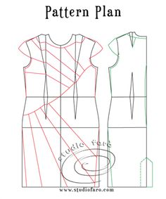 Use my fitted block to make this Pattern Puzzle - Curved Seam Dress  #PatternMakingClasses #Sydney #SewingPattern