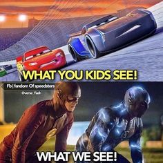 My first thought when I saw the trailer of cars