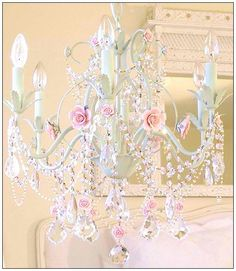 girls bedroom chandelier. A girl s bedroom pink chandelier  Wish our ceilings weren t so low this Color of the Week Pink It Not Just For Little Girls Anymore