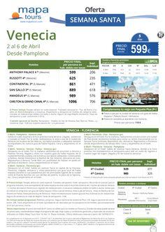 Venecia- Florencia Semana Santa salida Pamplona **Precio Final desde 599** ultimo minuto - http://zocotours.com/venecia-florencia-semana-santa-salida-pamplona-precio-final-desde-599-ultimo-minuto-4/