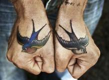 Tattoo, Platzierung, Hände