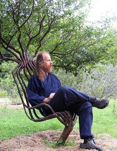 In Australia, Peter Cook has been growing tables and chairs for 25 years in his back yard, using a process known as tree shaping.  This technique involves directing arboreal growth into pre-determined designs, allowing tree shapers to create anything from ladders to entire building structures.