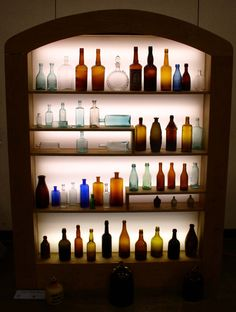 vintage glass bottle collection