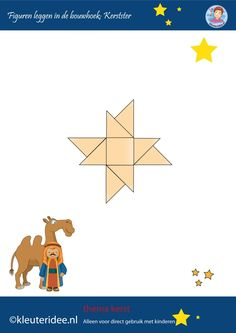 Figuren leggen in de bouwhoek, kerst op kleuteridee.nl, ster, make a star with b. - New Ideas Christmas Tree Crafts, Preschool Christmas, Christmas Themes, Merry Christmas, Christmas Decorations, Preschool Centers, Preschool Math, Bible Crafts, Jenga Blocks