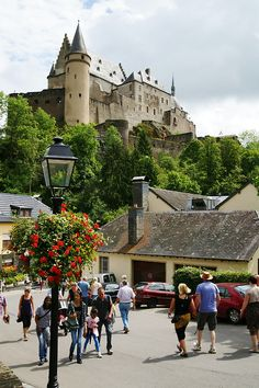 Vianden, Luxembourg (by Karyatis) - All things Europe #visitardennes #visitluxembourg #castles