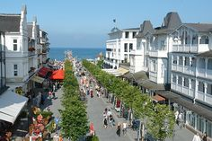 The beautiful beachside resort town of Binz on the island of Rugen, Germany.