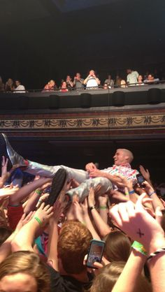Crowd surfing Tyler Glenn :)