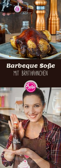 Eine richtig leckere Barbeque Soße sollte leicht süßlich, rauchig und würzig… A really tasty barbeque sauce should taste slightly sweet, smoky and spicy. The sauce is cooked and can therefore be easily made in stock. Barbecue Sauce Recipes, Barbeque Sauce, Pork Chop Recipes, Bbq Chicken Legs, Roast Chicken, Homemade Cornbread, Fried Pork, How To Make Breakfast, Sweets Recipes