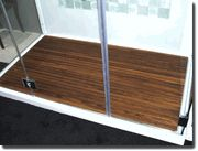 Teak Shower Base - Can be made in any size - This one is 57 x 32